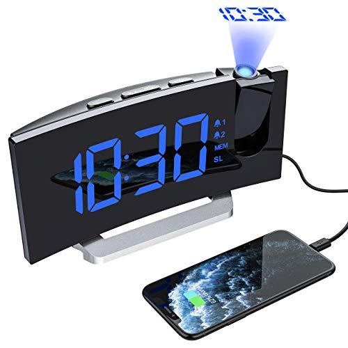 Sveglia digitale Snooze orologio rosso LED Dimmer Temp Di controllo del