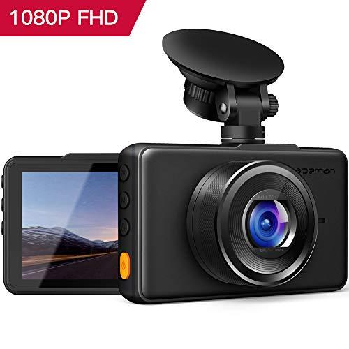 Visione Notturna G-Sensor Rilevazione di Movimento Registrazione in Loop WDR 170/° Gradi SuperEye Dash Cam per Auto Telecamera per Auto Dashcam FHD 1080P con Sony IMX323 Sensor