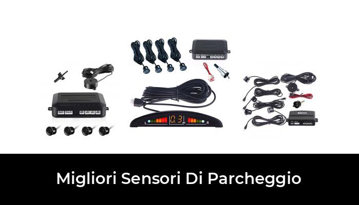 KIT 4 SENSORI DI PARCHEGGIO AUTO NERO INDICATORE ACUSTICO MANUALE ITALIANO NUOV